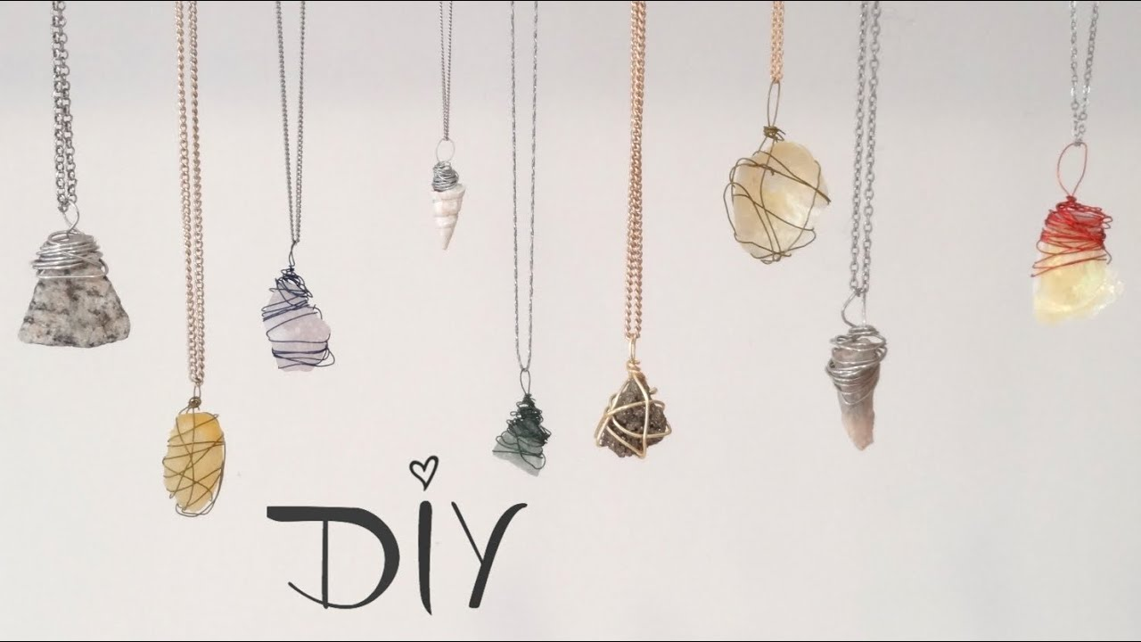 Diy wire wrapped pendant 3 ways youtube for How to make rock jewelry