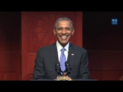 """Obama To Muslims """"You're Part Of America Too"""" - Full Speech At Mosque"""