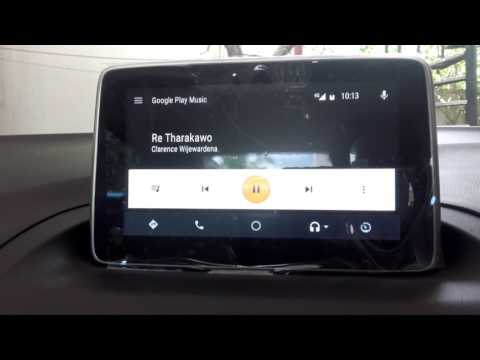 Android Auto in Mazda with google map voice navigation