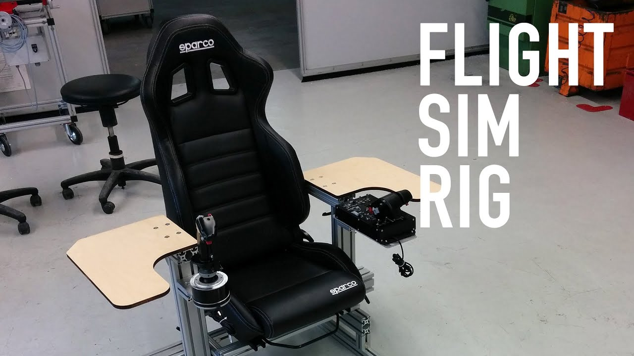 Flight Sim Rig Full Aluminium With Thrustmaster Warthog