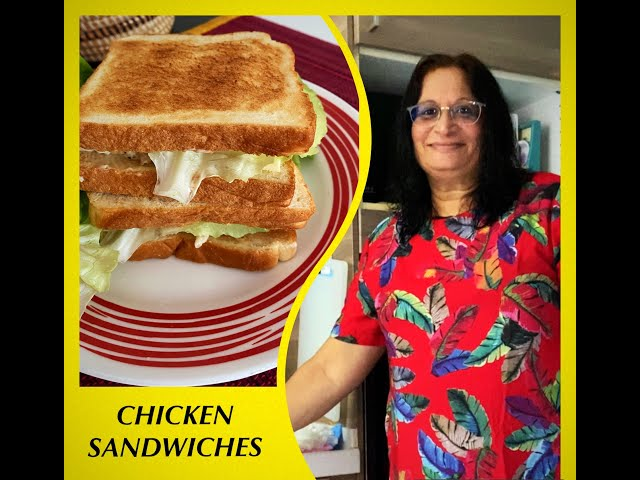 CHICKEN SANDWICHES WITH LEFT OVER ROAST CHICKEN / HOW TO MAKE A TOASTED CHICKEN SANDWICH
