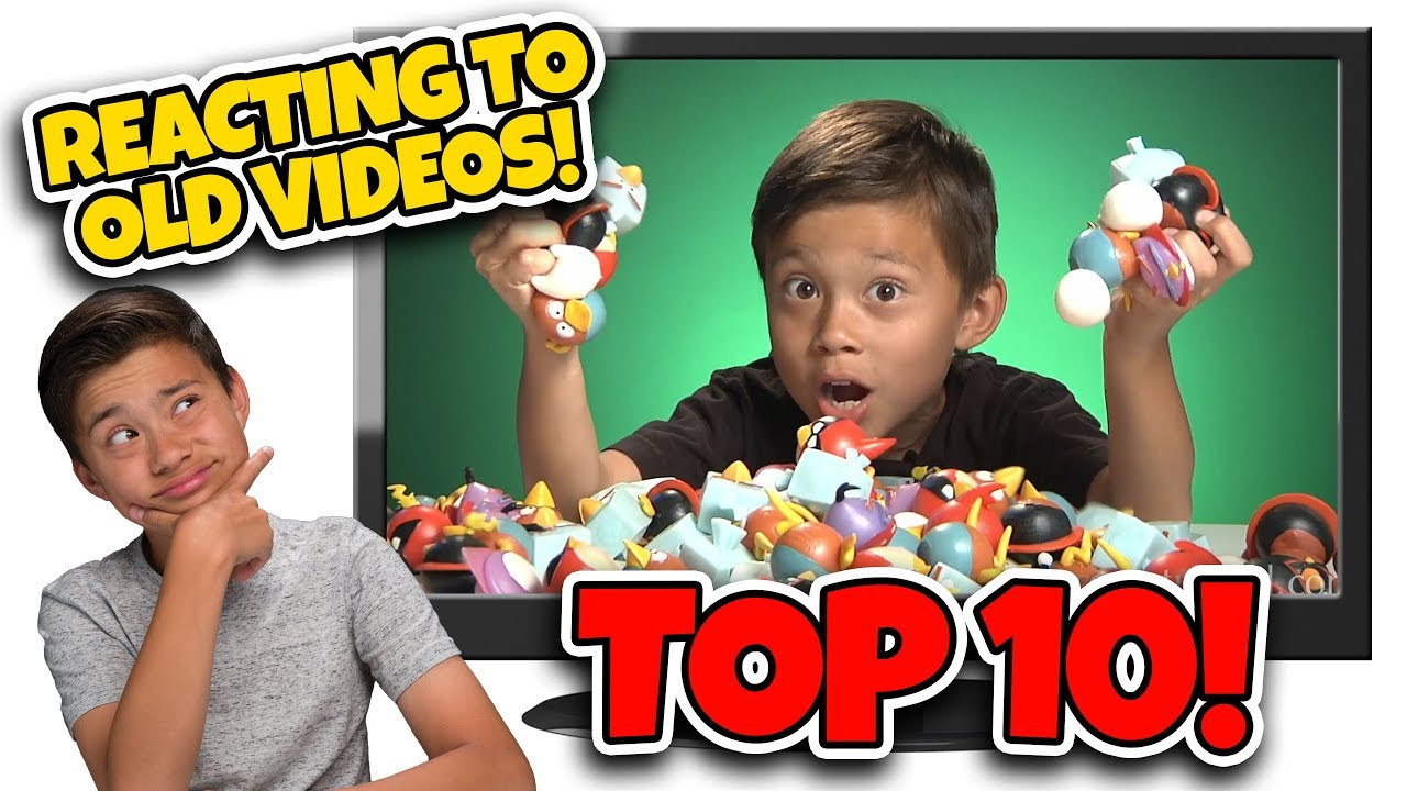 KIDS REACT TO OLD VIDEOS!!! Top 10 Favorite Videos Countdown - #10 Ultimate Angry Birds Space!