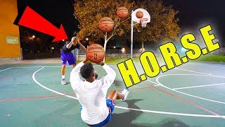 FUNNIEST BASKETBALL TRICK SHOT GAME OF H.O.R.S.E w/ Flight!