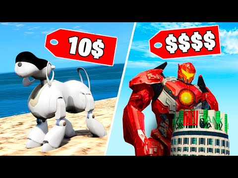 РОБОТ ЗА 10$ или РОБОТ ЗА 700.000.000$?! - GTA 5 СРАВНЕНИЕ Дешёвое и Дорогое (Моды ГТА 5)