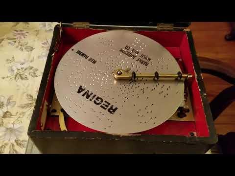 """Regina 8"""" Japanned Music Box plays Disc 16, """"Blue Danube."""""""
