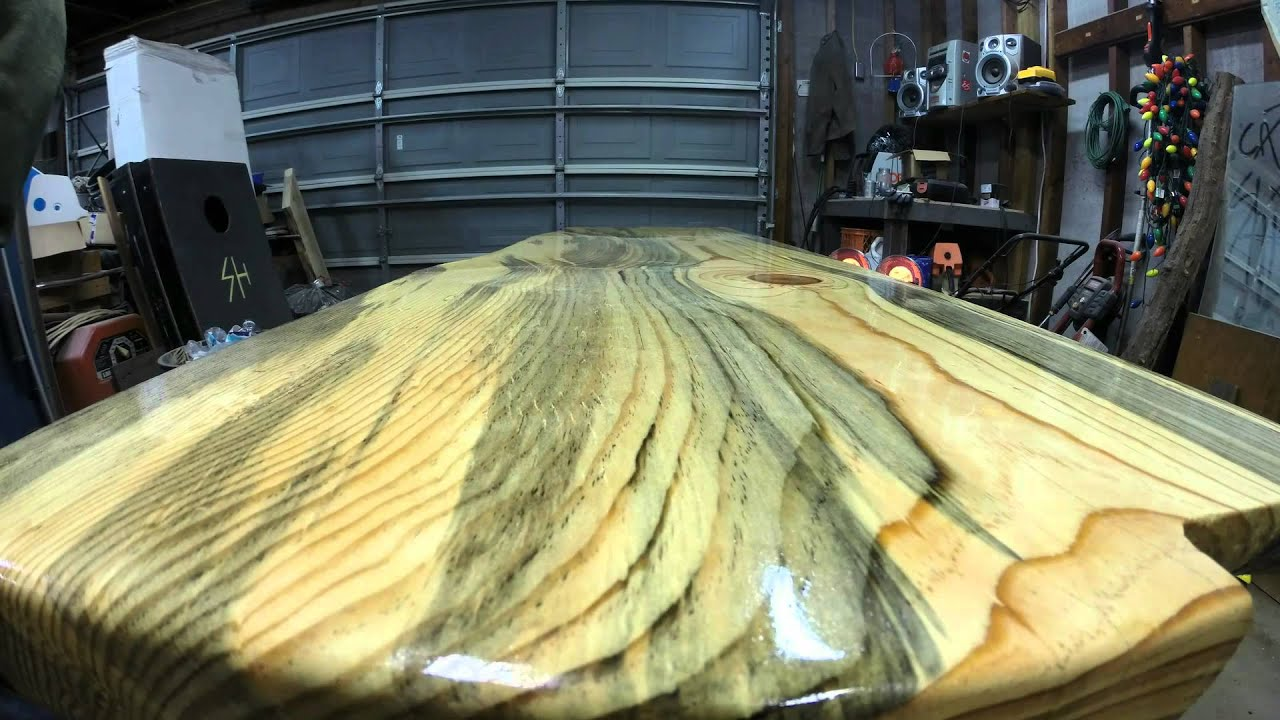 epoxy bar top made of blue pine youtube
