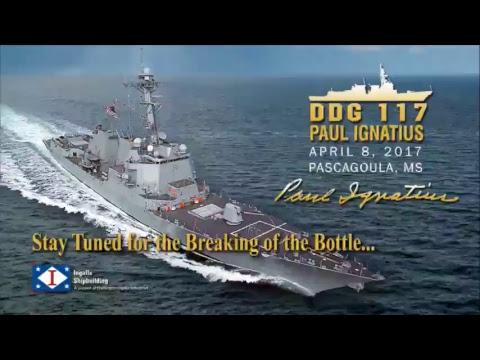 Ingalls Shipbuilding | Christening of Paul Ignatius (DDG 117)