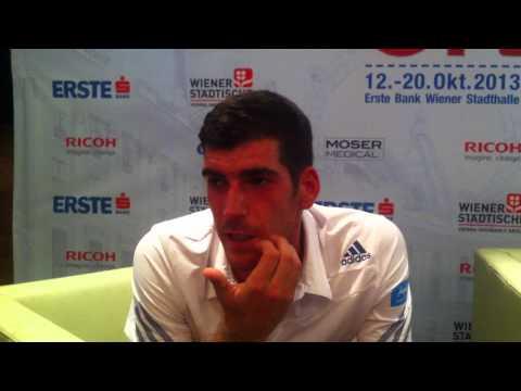 Erste Bank Open 2013, Wiener Stadthalle: Interview mit Gerald Melzer
