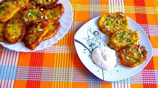 Zucchini Fritters With Carrot And Cheese