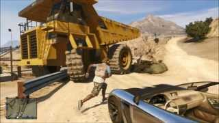 Grand Therft Auto 5 dump truck and location