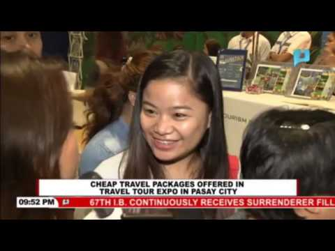 Cheap travel packages offered in travel tour expo in Pasay City
