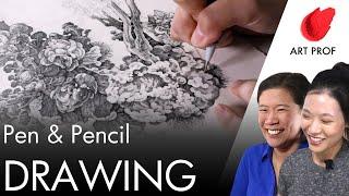 Pen & Ink & Peฑcil Drawing Techniques Tutorial