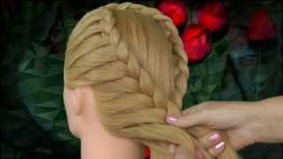 Плетение кос. Weaving braids.(На моем канале я предлагаю Вам посмотреть мои прически с плетением волосhttp://youtu.be/DB8ZFKvXO48. Так же хочу показа..., 2013-06-17T17:30:09.000Z)