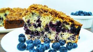 Черничный пирог с песочной крошкой | Blueberry Crumble Cake Recipe