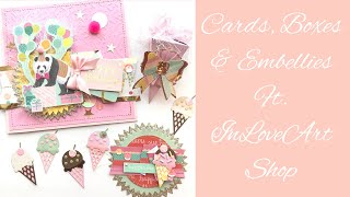 InLoveArtShop ~ Projects ~ Cards ~ Embellishments