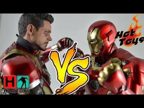 CUAL ES MEJOR?? Hot Toys IRON MAN 45 Vs 46 Diecast - Review Comparativa HABI TOYS