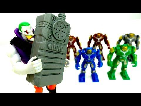#Джокер сорвал ОБЗОР новых РОБОТОВ. Железный Человек спасает Человека Паука. Игры для мальчиков