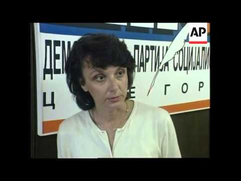 FORMER YUGOSLAVIA: MONTENEGRO: EVE OF PRESIDENTIAL ELECTIONS