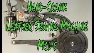 Modification de la machine à coudre en cuir à manivelle