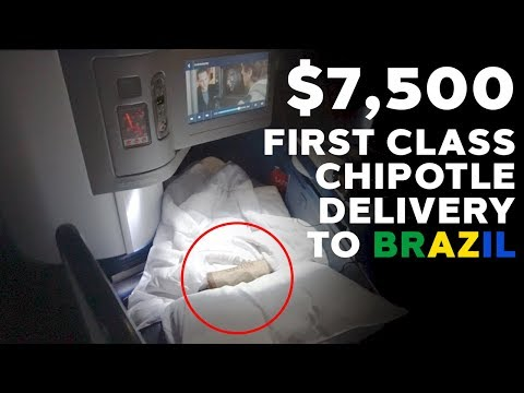 $7,500 FIRST CLASS CHIPOTLE DELIVERY TO BRAZIL | Josue Aceituno