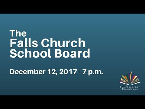 School Board Regular Meeting - December 12, 2017