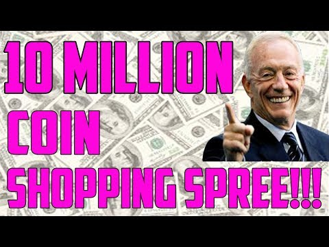 10 MILLION COIN SHOPPING SPREE!!! MADDEN 18 ULTIMATE TEAM
