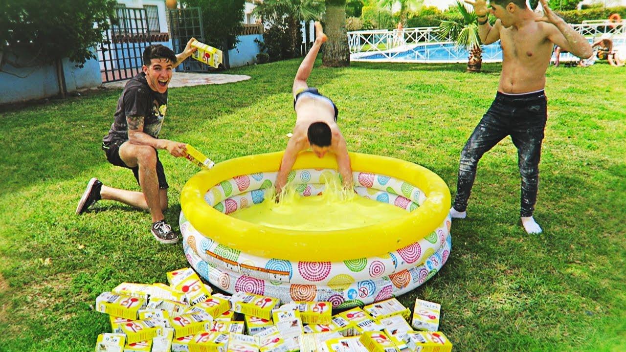 Creamos una piscina de fluido no newtoniano el liquido for Piscinas plastico duro