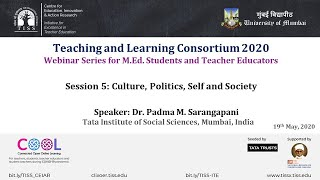 [COOL Webinars | TALC 2020 | Teacher Education] Session 5: Culture, Politics, Self and Society