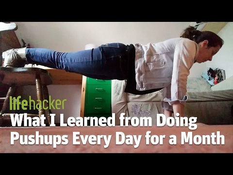 What I Learned from Doing Pushups Every Day for a Month