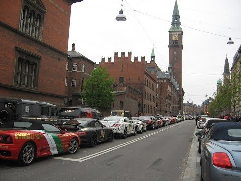 Gumball 3000 2013 Whole start at Copenhagen (Some Loud Revs)