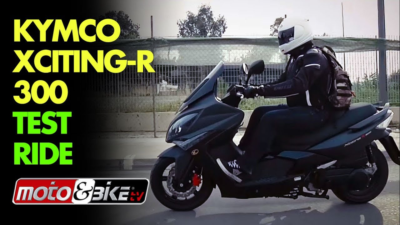 kymco xciting r 300 test ride youtube. Black Bedroom Furniture Sets. Home Design Ideas