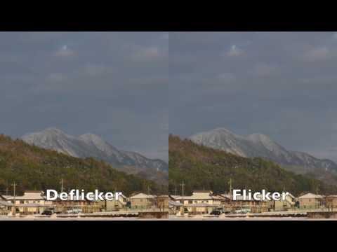 Time lapse comparison - deflicker