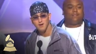 Eminem accepting the GRAMMY for Best Rap Album at the 43rd GRAMMY Awards | GRAMMYs