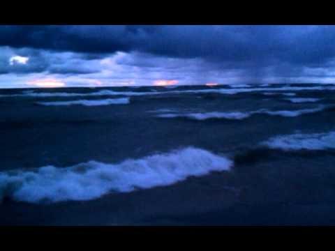 Waves on Lake Michigan near Bear Lake, Michigan