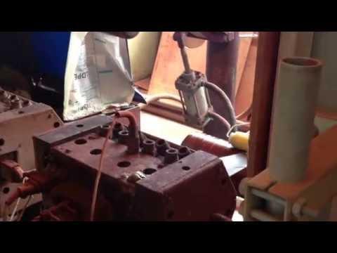 Нанесение трёхслойного полиэтиленового покрытия (камера нанесения эпоксидного праймера)