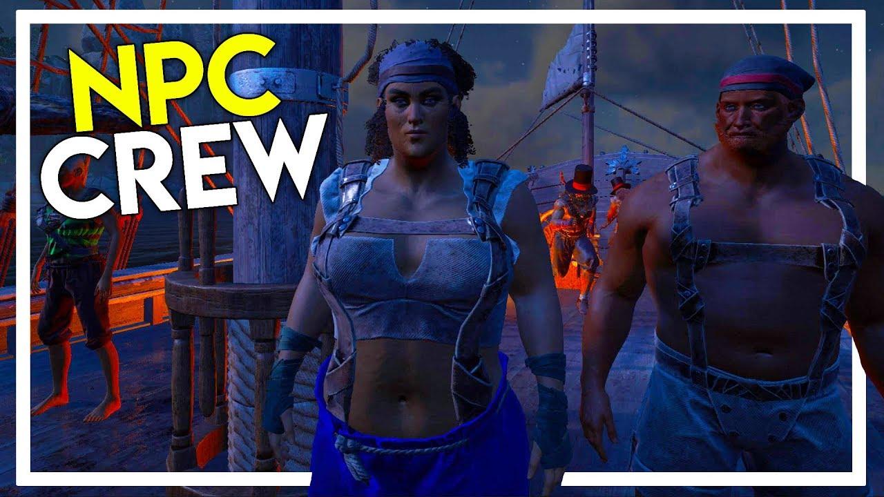 Recruiting NPC Pirate Crew! - Coolest thing in ATLAS! (Ark Atlas Gameplay  #11)