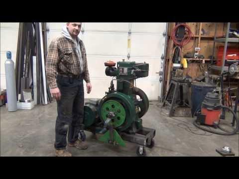 Lister clone flywheel engine startup