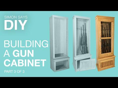 DIY Gun Cabnet Part 3 of 3