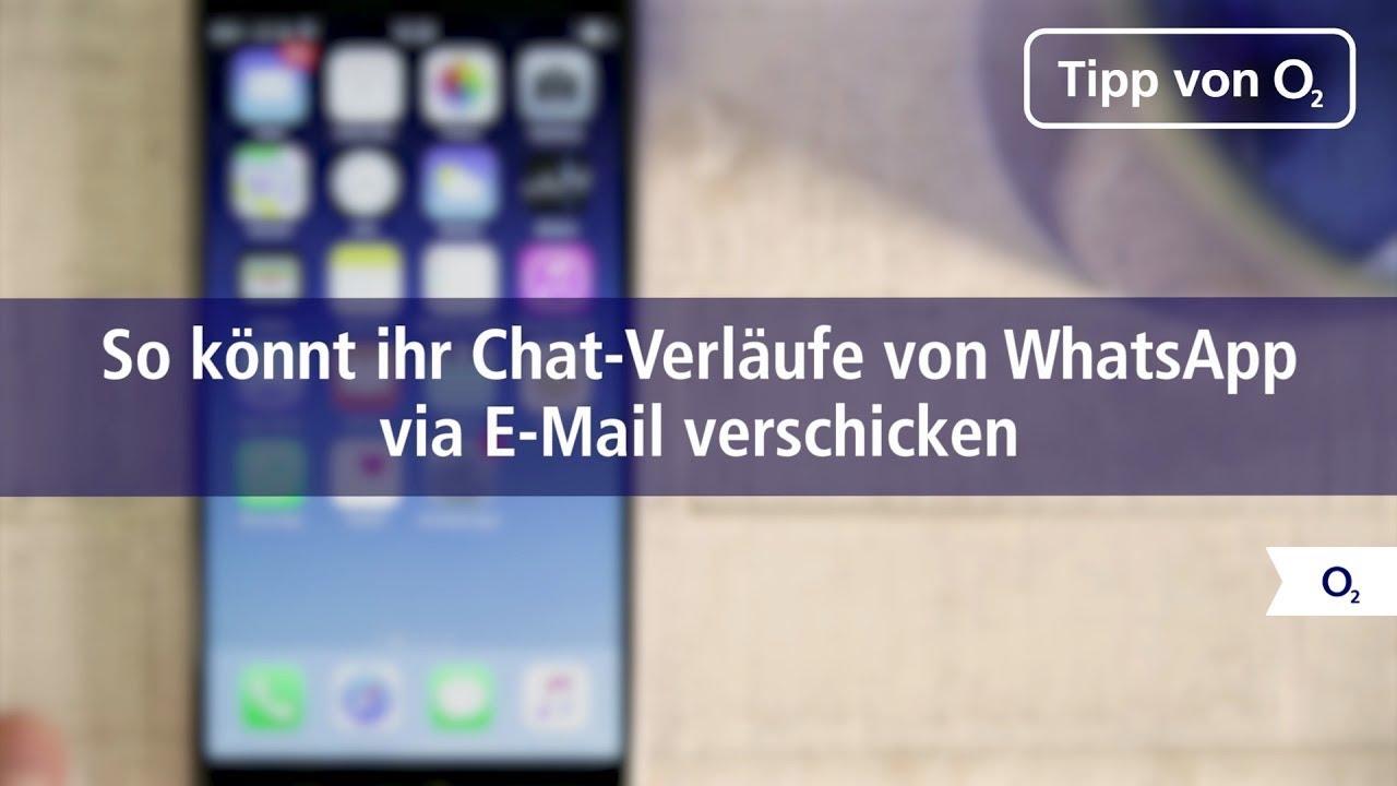 So Verschickt Ihr Eure Whatsapp Chat Verläufe Per E Mail Youtube