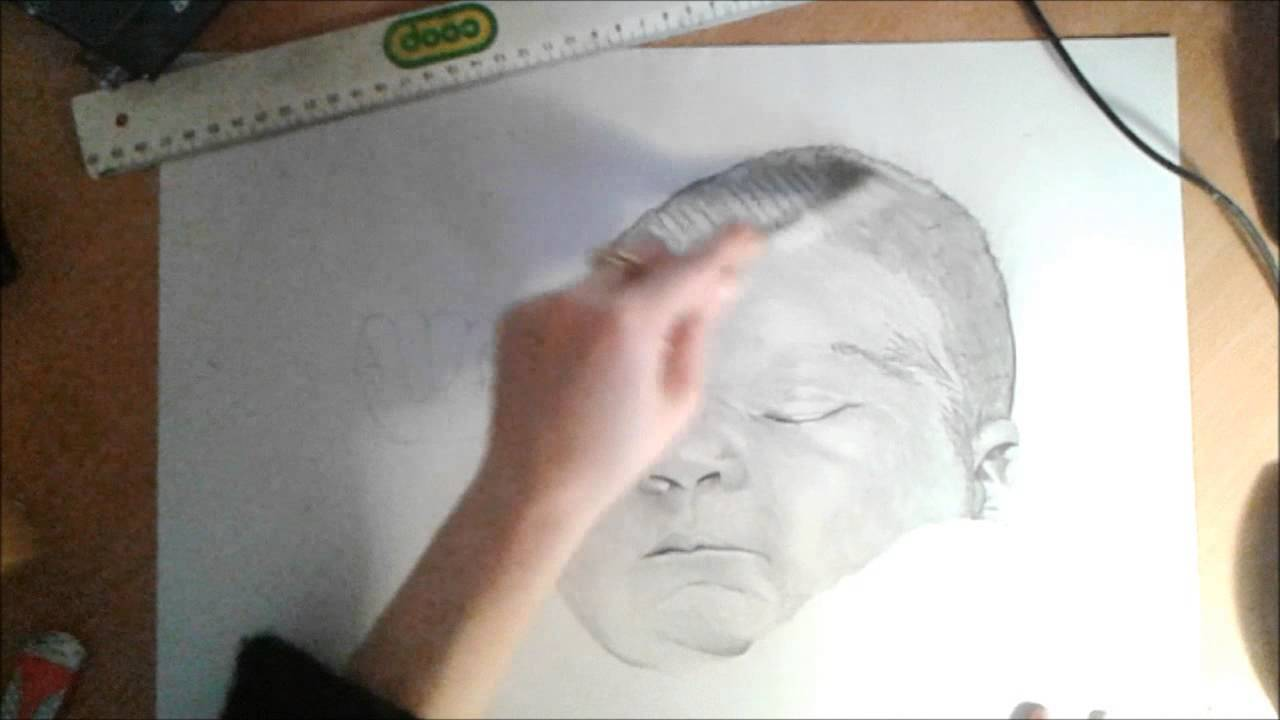 How to draw a baby 39 s portrait comment dessiner un portrait de b b youtube - Comment dessiner un bebe chat ...