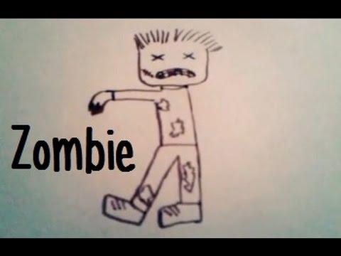 Dessiner un petit zombie youtube - Comment dessiner un zombie ...