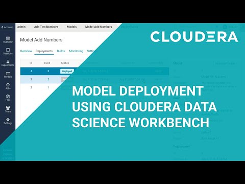 Model Deployment Using Cloudera Data Science Workbench