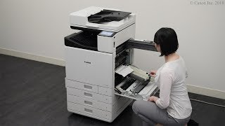 If paper jams inside the machine or in a paper source (WG7000 Series)