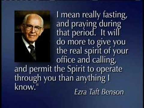 Lds Mormon Elder Joseph B Wirthlin Law Of The Fast 12 Youtube