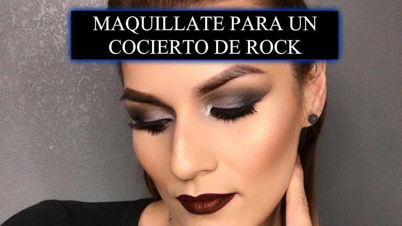 Maquillaje Rockero Maquillate Para Un Concierto De Rock Youtube