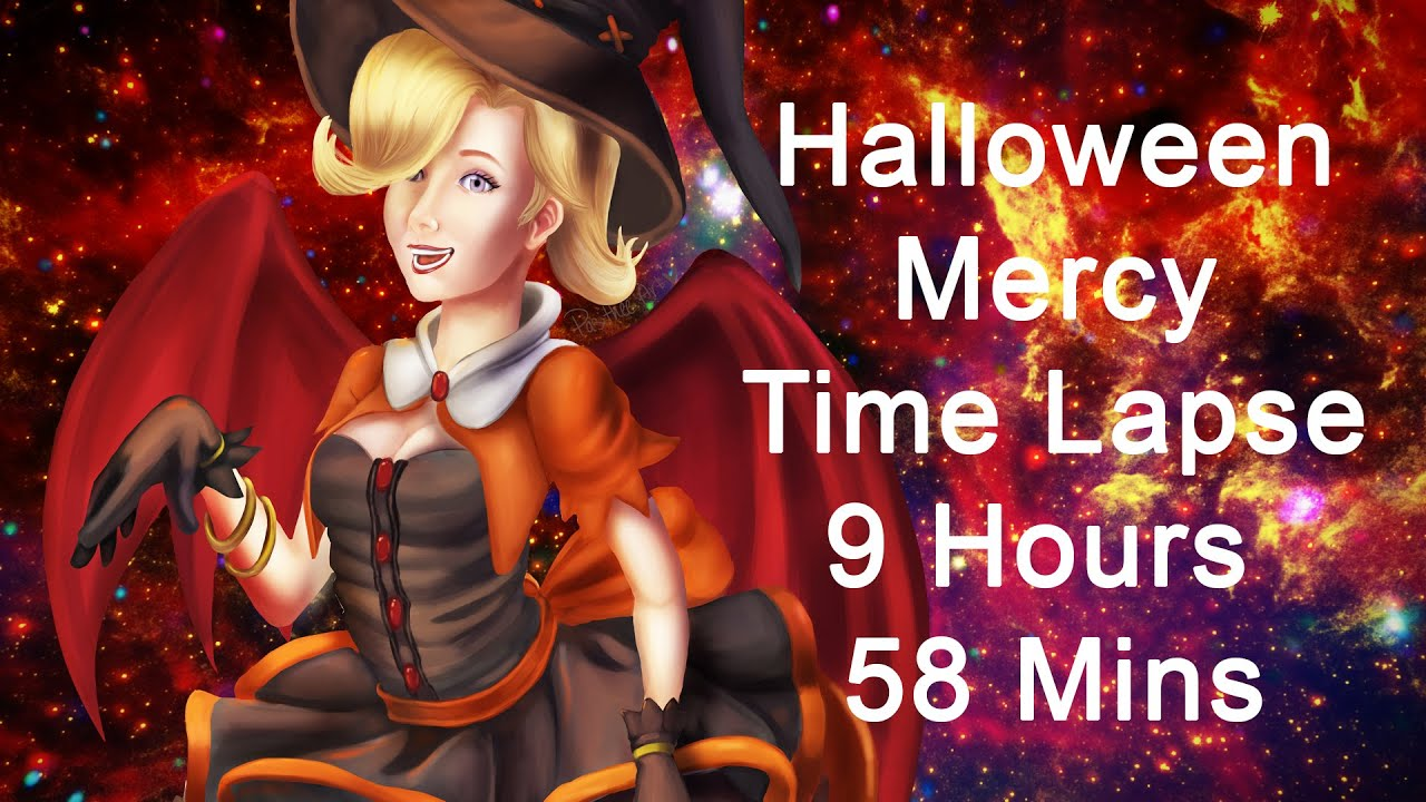 Overwatch Halloween Mercy Time Lapse - YouTube