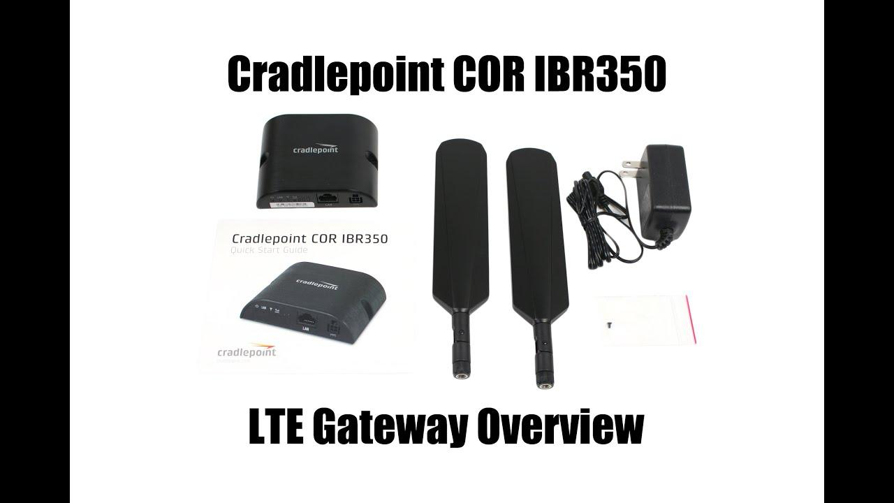 Cradlepoint Cor IBR350 4G LTE Gateway Unboxing