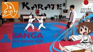 Соревнования по каратэ. Дети 6-7 лет. JKA. Shotokan. Sanga karate club.(18.09.16 были проведены соревнования JKA Kinder Cup 2016. Это видео о выступлении Артура. 2 поединка по КАТА и 2 по КУМИТЭ...., 2016-09-21T16:22:21.000Z)