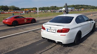 Manhart MH5 700 BMW M5 F10 - LOUD Revs & Drag Racing!