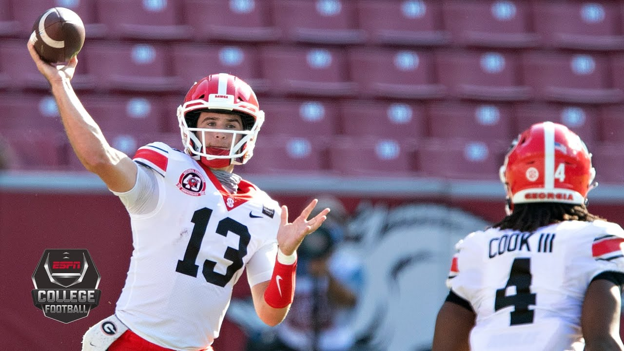 Georgia Bulldogs Vs Arkansas Razorbacks College Football Highlights YouTube
